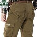 AFS JEEP Outono/Inverno 2016 Novo Design Cashmere Inner Pant, Muitos bolsos Calças Cargo do Homem Casual, sólidos Calças de Algodão Soltas