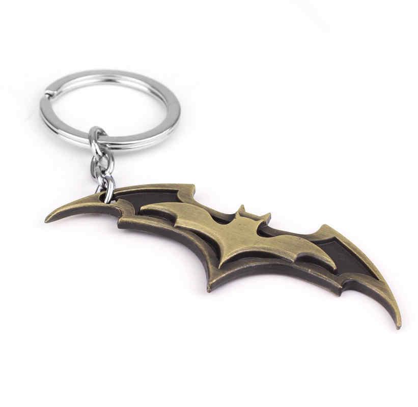 Super-heróis Batman Chaveiros Chaveiros 2 Cores Pingente de Morcego Titular da Chave chave Anéis The Avengers Maravilhas Mans Presente Jóias-50