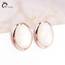 Clip earrings jewelry in clip EarJewelry for High quality  oval shell Earrings alloy For women Wholesale Free Shipping