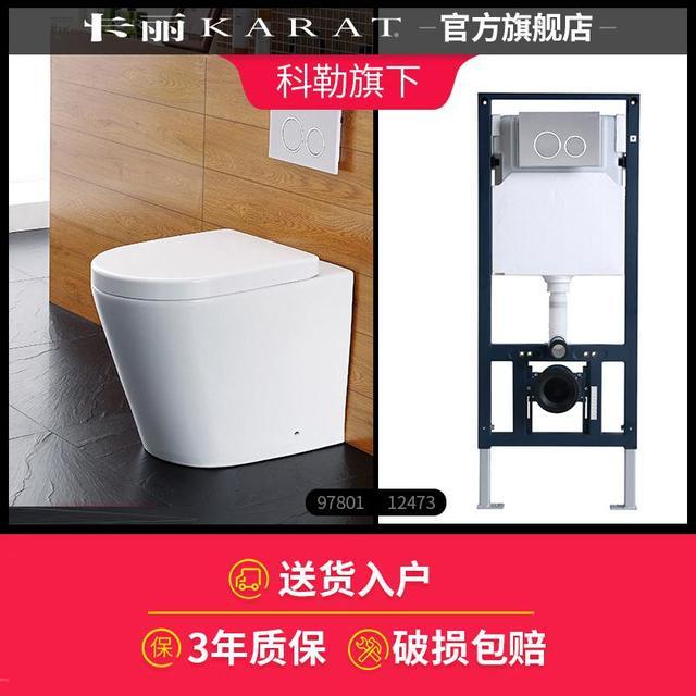 €391.75 61% de réduction Toilette fixée au mur de Carrie, toilette fixée au  mur cachée par rangée de mur intégrée de maison-in Toilettes from ...