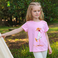 2016 Летний Новый Вскользь Хлопок Футболки С Коротким рукавом футболки Детские Топ детская Одежда ребенка женщины