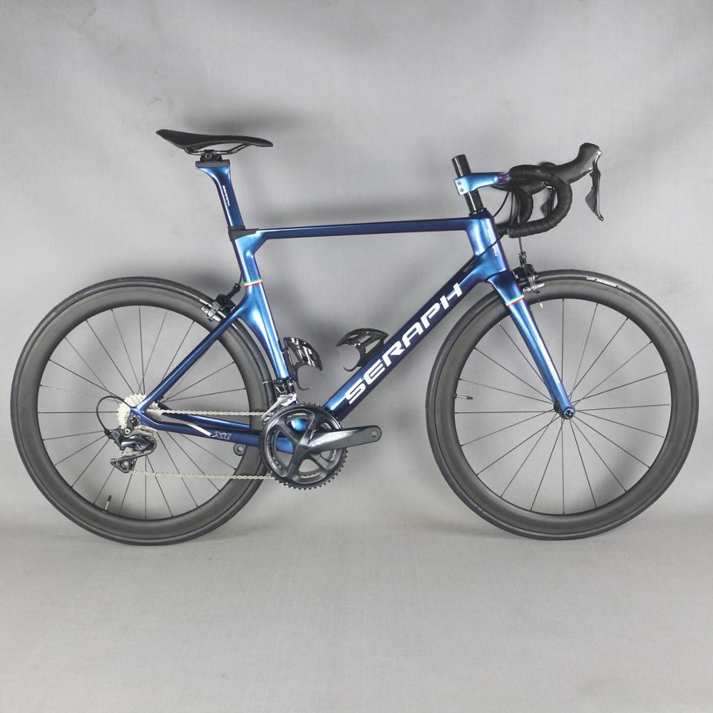 complete carbon road bike with Shima R8000 groupset  carbon road bike chameleon paint TT-X1