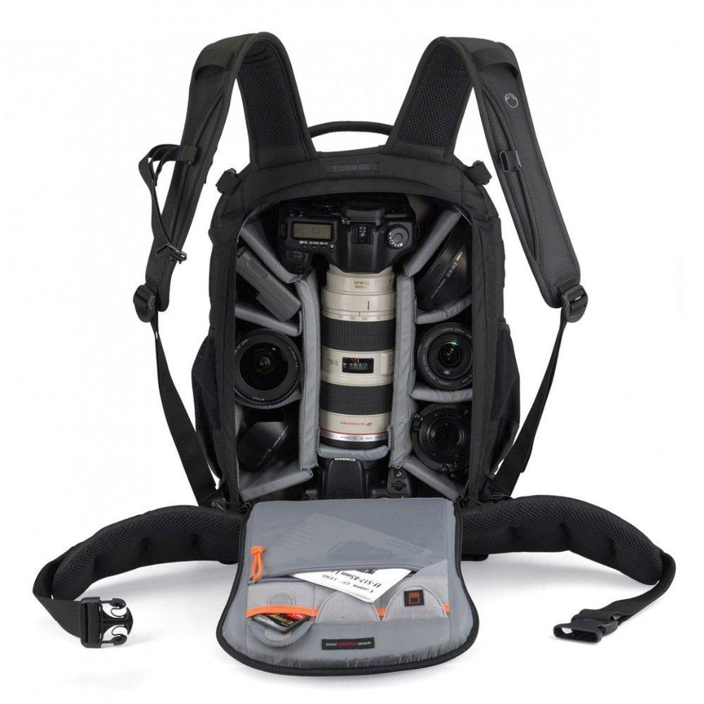 Atacado gopro lowepro flipside 400 aw digital slr câmera foto mochila mochilas com capa meteorológica à prova dwaterproof água