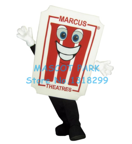 theatre ticket mascot costume factory wholesale cartoon cinema movie theatre theme anime ...