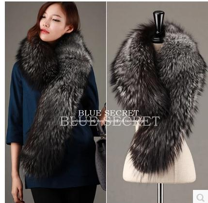 Womens Korean Imitation Fox Fur Scarf Man Made Fur Shawl Collars Female Cape Scarfs One