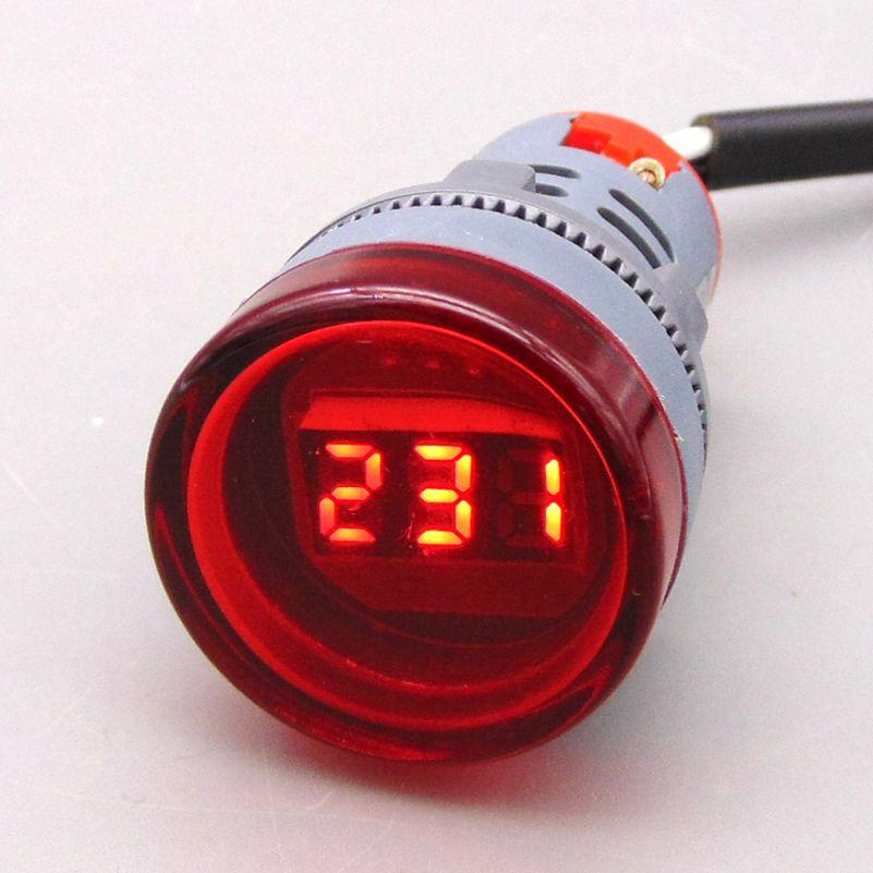22 mm voltmérő Feszültségrelé AC50 ~ 500 V volt, mérőeszköz feszültségmérő voltmérő Volt jelzőlámpa feszültségmérője