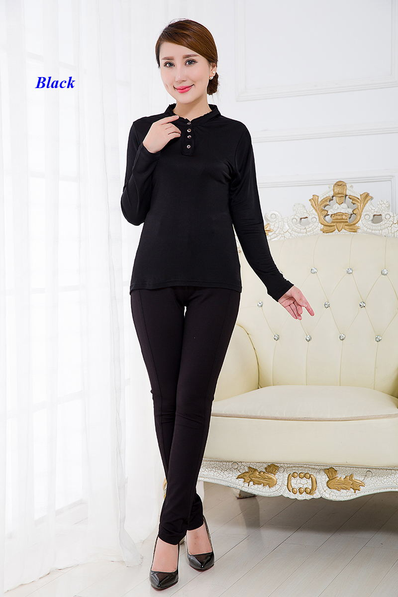 Nueva llegada camiseta delgada de seda pura con volantes para mujer, camiseta de manga larga de punto de seda 100% natural para mujer, jersey de señora de seda