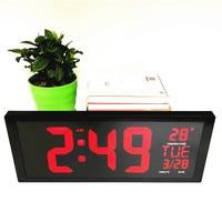 Big numbers Led digital clocks with temperature week date deco home living room bedroom desktop wall clock watch 901a wall Clock