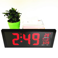 Big numbers Led digital clocks with temperature week date deco home living room bedroom desktop wall clock watch 901a wall Clock