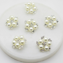XINXI 10pcs/lot 25mm Gorgeous flower pearl alloy rhinestone