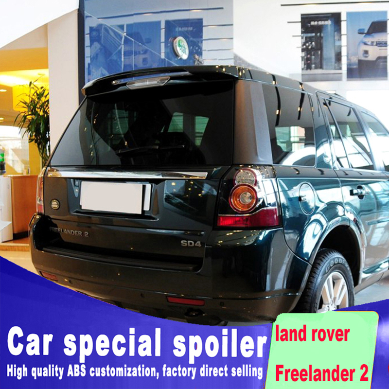 2006 to 2015 FOR land rover Freelander 2 spoiler rear window roof spoiler high quality ABS by primer or black white color paint