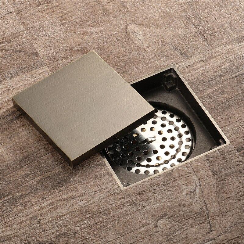 Antique Solid Brass Square Anti Odor Floor Drain Bathroom ...