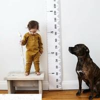 Деревянная высота линейка Настенная Наклейка детская диаграмма роста настенный высота измерения стены Художественная печать на холсте до...
