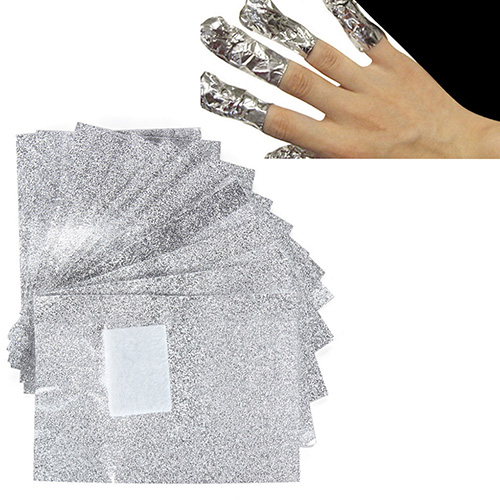 100 Pcs Aluminium Foil font b Nail b font Art Soak Off Acrylic Gel font b
