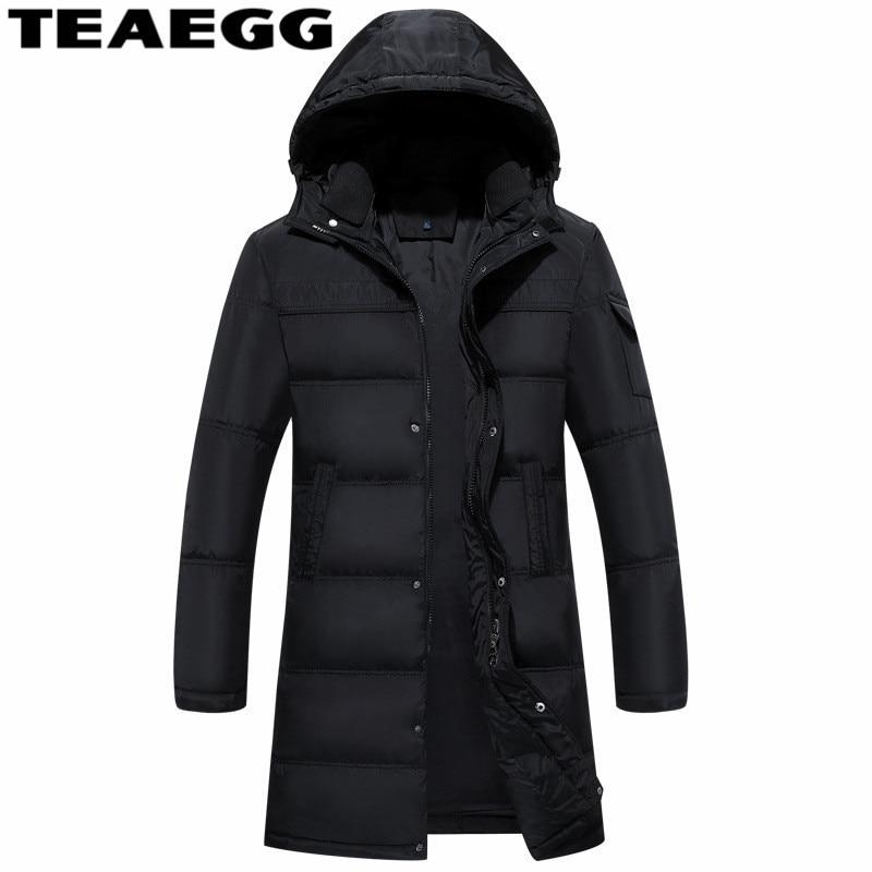 TEAEGG Plus Size 5XL Casual Winter Duck Down Jacket For Men Clothing Blouson Homme Men Down Coat Winter Jackets Outwear AL1550