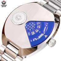 Mens นาฬิกาสแตนเลสสตีลควอตซ์ man xinboqin นาฬิกาข้อมือแบรนด์หรู 50 กันน้ำ Creative ชายนาฬิกา Citizen การเคลื่อนไหว