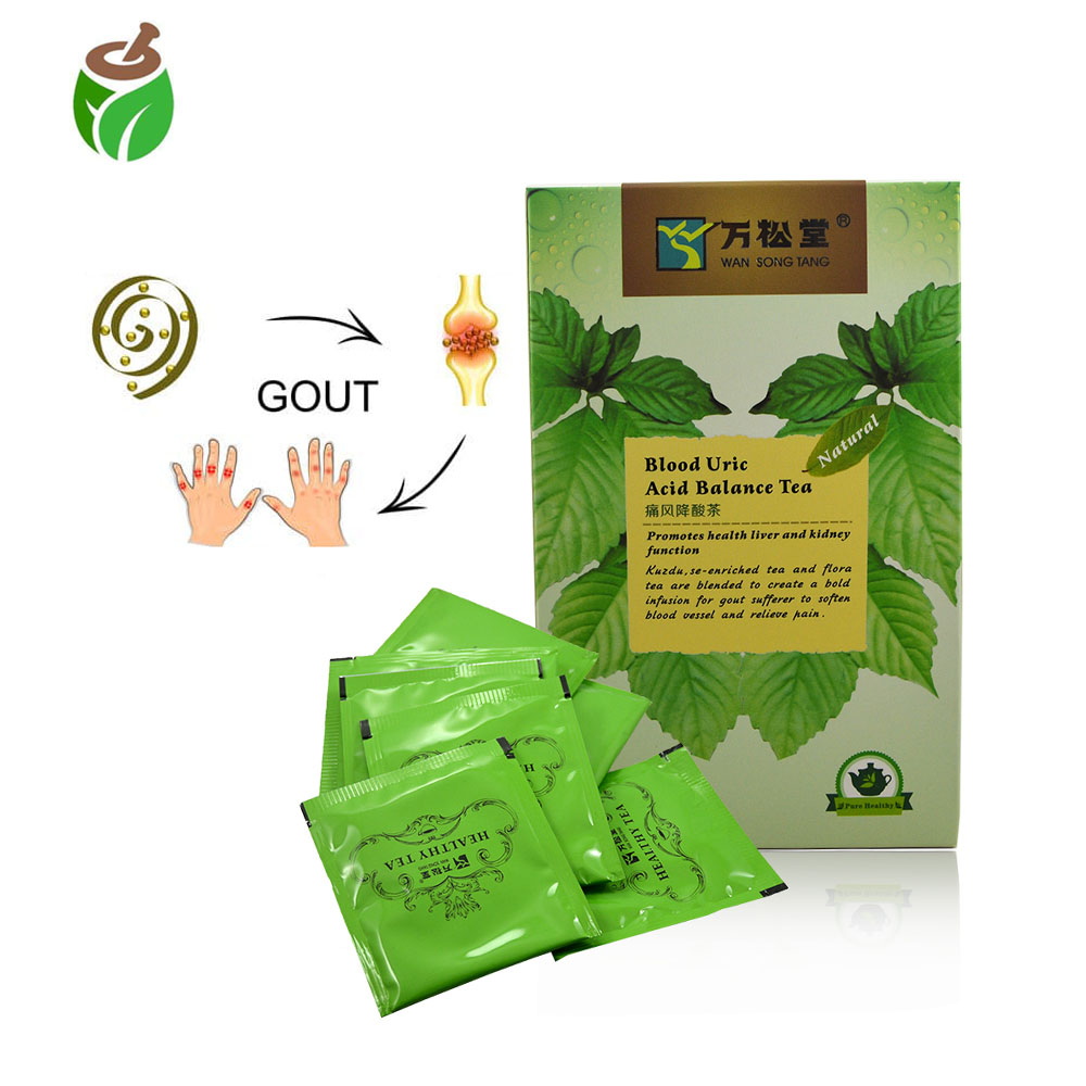 40 Pcs/2 Packs Natural Blood Uric Acid Balance Tea Gout Pain Relief Arthritis Kidney Care Enhance Immunity Health Care Tea