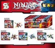 SY249 Ninjagoes Thunder Swordsman Flying Fighter 4Pcs/lot Minifigures Building Block Christmas Toys Gift Compatible Legoe