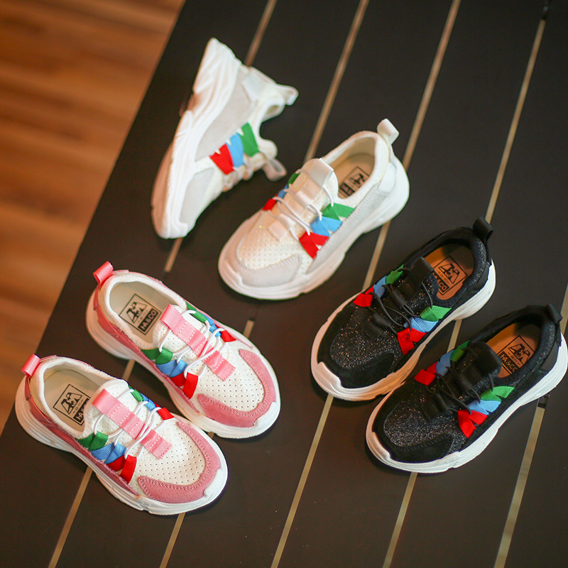 3-12T New Autumn Children Student Fashion Boys Football Sport Shoes Girls Tennis Run Casual Shoes Toddler Kids Sneaker T91