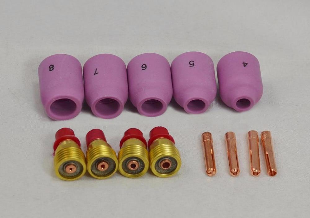 9 /& 20 TIG torch welding Collet Kit 13N21 13N22 13N23 13N24 .040 1//16 3//32 1//8