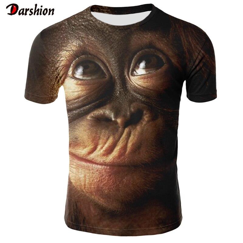 3d Orang-utan Print T Shirt Männer/frauen 2019 Heißer Verkauf Tier Drucken Lustige Affe Kurzarm Sommer Tops Tees T-shirt Männlichen 4xl