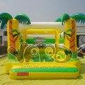Crianças da selva trampolim inflável casa do salto salto bouncer moonwalk bouncy castelo