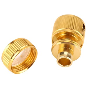 Image 3 - Drip Irrigation For Alloy Water Hose Connector Fitting Switch Nozzle Garden Pipe Quick Fit Adapter Tap Hose Connector