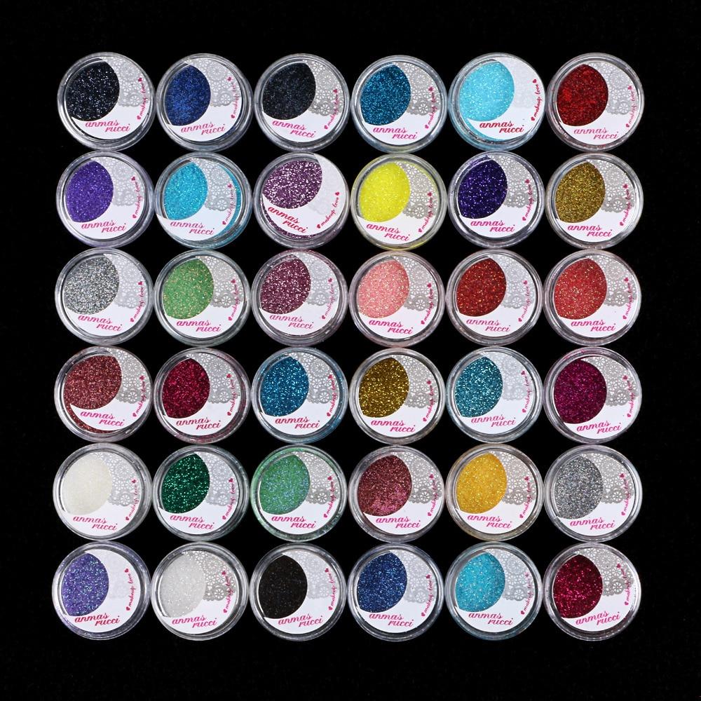 MAKEUP 36 COLOR GLITTER SHIMMER Powder Eyeshadow Eye Shadow Salon Artist Set #13