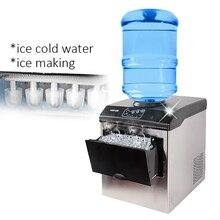 Машина для производства льда электрическая коммерческая или домашняя столешница Автоматическая пули льда, кубик льда делая машину, 220 В HZB-25/BF