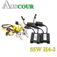55W hid xenon kit converison ballast for car headlight headlamp digital hid xenon kit auto lamp bulb Car styling DIY