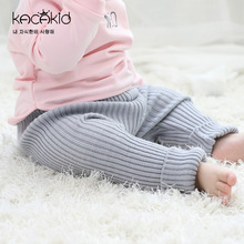 Kacakid winter new baby girls Knitted leggings kids pp pants children warm 2 colors