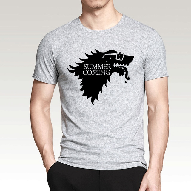34e378294 Creative T Shirts Game Of Thrones Summer Is Coming Printed Funny T-Shirts  2017 New Summer 100% Cotton Men Tops Tees For Fans