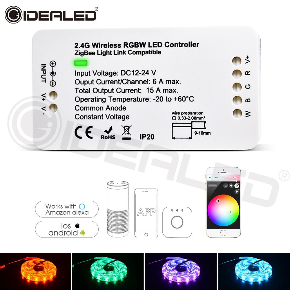 Led Strip Lights Smart Home RGBW For Wireless APP Zigbee Strip Controller Work With ZLL Hub Echo Plus And Lightfy Hub