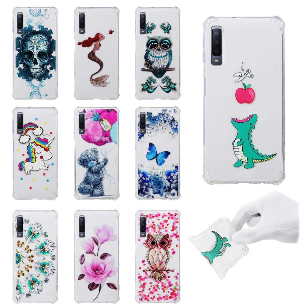 Cover Case S7 Edge Note 8 Anti-Fall Samsung Galaxy J6-Plus for S8 S9 S6 A7 A5 A3 A8 J4