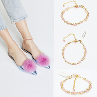 2018 Top Fashion Hot Sale Leg Bracelet Barefoot Sandals Anklet Foot Jewelry Beach Wedding Bridesmaid Gift Handcrafted Dainty