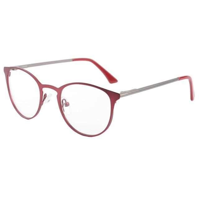 b54f66bd7c2 CARDINAL Women Red Cat Eye Stainless Full Rim Optical Eyeglasses Frames  High Quality Eyewear Frame Glasses Frames Reading Myopia