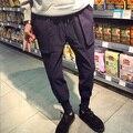 Fashon 2017 Homens Harem Pants Corredores Sweatpants Marca Masculina de Algodão Casuais Mens Basculadores Calças Sólidas para Homens
