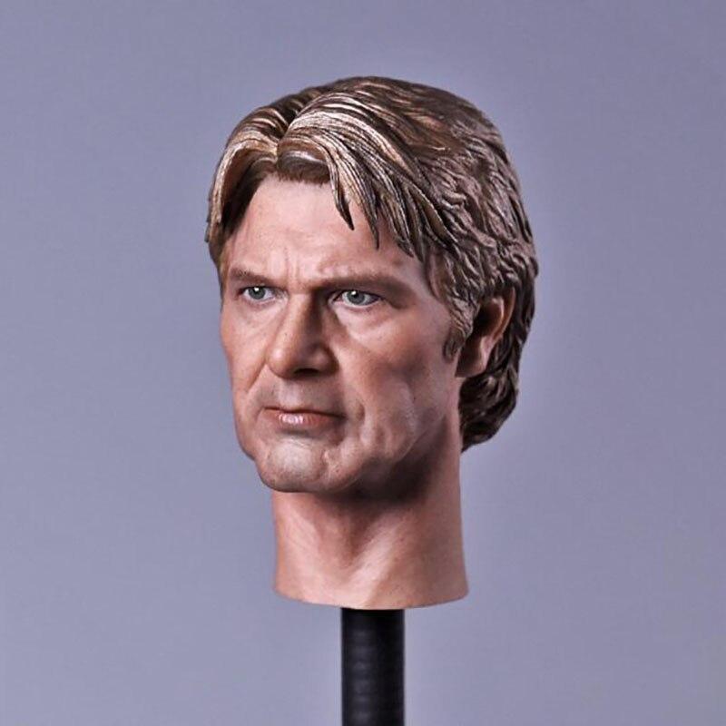 """1/6 Schaal Star Wars 7-force Ontwaken Sterke Afdeling Head Sculpt Man Versie Model Korte Haar Headplay Voor 12 """"action Figure Hoog Gepolijst"""