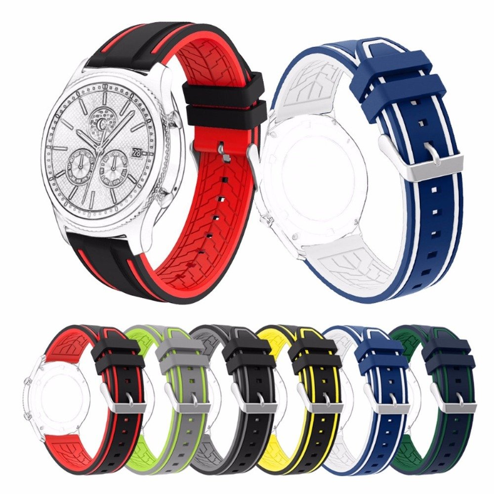 22mm Sport Silicone Band for Samsung Gear S3 Frontier / Classic Rubber Wrist Strap for Smart Watch Samsung S3 Band 18 colors rubber wrist strap for samsung gear s3 frontier silicone watch band for samsung gear s3 classic bracelet band 22mm