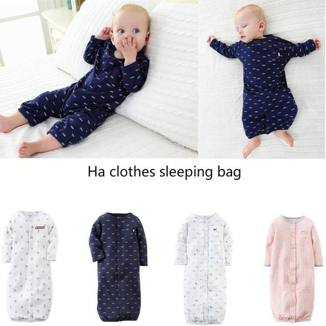 Sacos de Dormir do bebê Romper Terno Homens E Mulheres de Comércio exterior de Algodão de Manga Longa Roupas Animais Unisex O Pescoço Streetwear