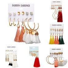Pendientes de aro geométricos estilo bohemio para mujer, aretes grandes, Estilo Vintage, rombo, hipérbola, joyería