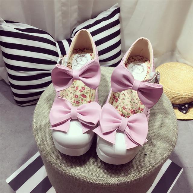 Sweet Girl Прекрасный Лук Лолита Кружева Круглым Носком женские Принцесса Обувь