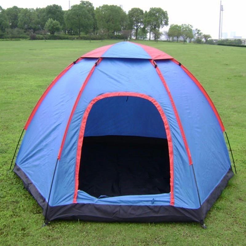 4812f99825470 Camping en plein air Tente Pour La Plage Randonnée Voyage Pique Nique  Pliante Tenda 3 5 Personnes Grand Chapiteau Portable Étanche Tente Unique  Tipi dans ...
