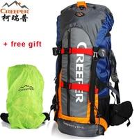 Creeper Camping Bag Professional Waterproof Rucksack Internal Frame Climbing Camping Hiking Backpack Mountaineering Bag 60L