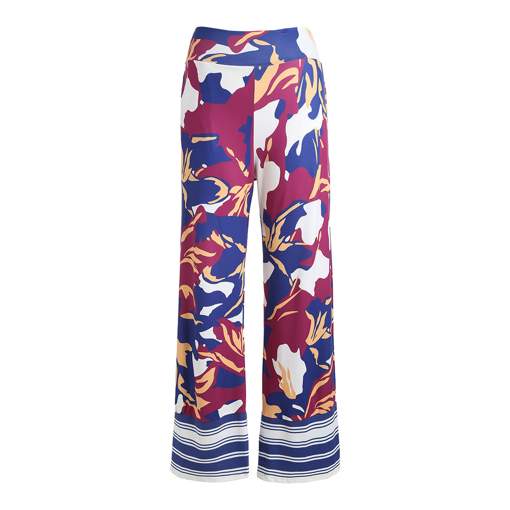 Summer Women   Wide     Leg     Pants   Printed Fitness Loose Casual Lady Trousers FS99