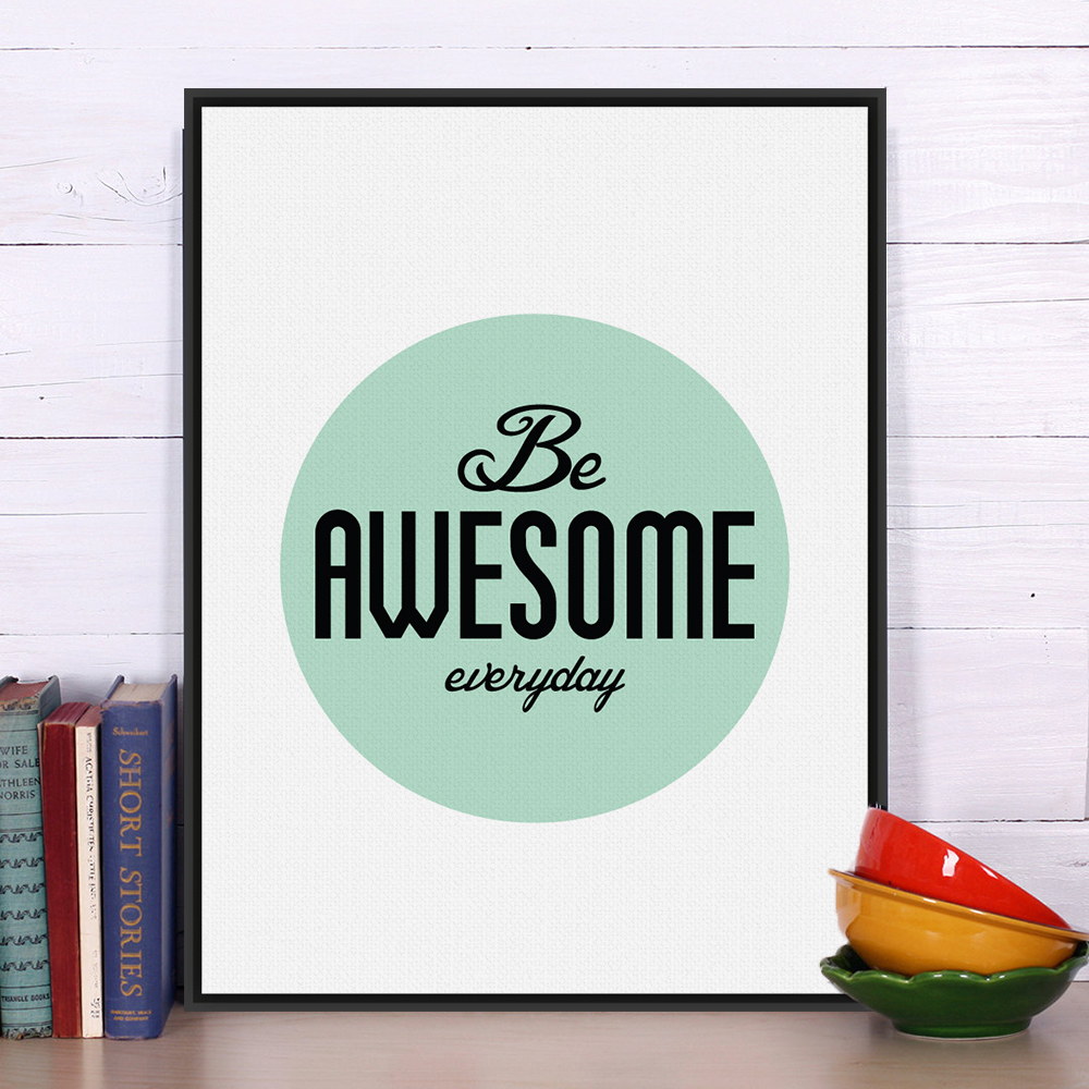 Modern Minimalist Motivational Typography Life Quotes Art Print Poster Wall Picture Canvas Painting No Frame Office Deco image