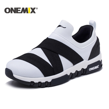 Фотография Onemix 2018 new running shoes men breathable sneakers for women hight sneakers outdoor trekking walking running shoes for men