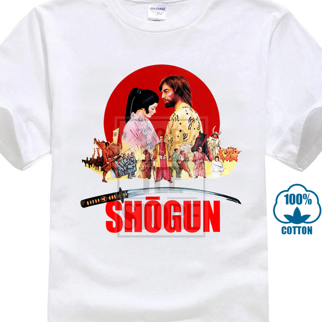 Shogun Movie Poster T Shirt Natural White All Sizes S To 4Xl