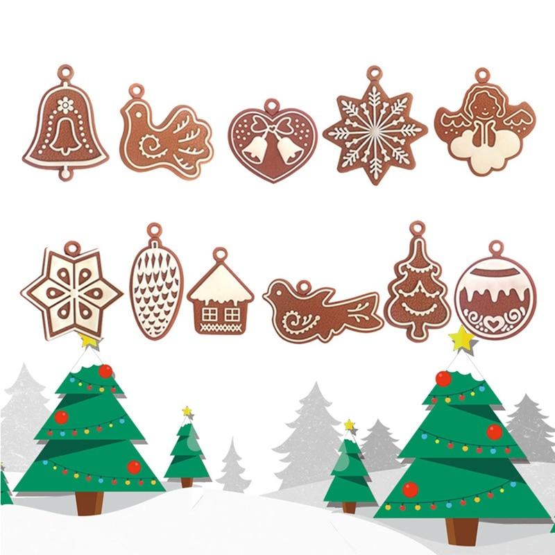 11 teile//los Neue Weihnachten Geschenke Weihnachten Baum Hängen Ornamente Flitter Drop Anhänger Party Dekorationen für Haus