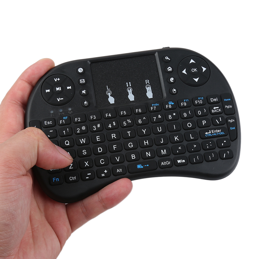 Aggressiv Tragbare I8 2,4 Ghz Schwarz Tastatur Air Mouse Touchpad Handheld Für Smart Android Tv Box Mini Pc 2 Farben F Und Verdauung Hilft